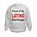 Proud Latino Heritage (Front) Kids Sweatshirt