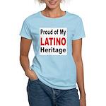 Proud Latino Heritage (Front) Women's Pink T-Shirt