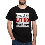 Proud Latino Heritage (Front) Black T-Shirt