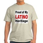 Proud Latino Heritage Ash Grey T-Shirt