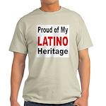 Proud Latino Heritage (Front) Ash Grey T-Shirt