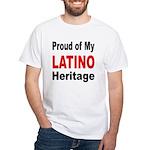 Proud Latino Heritage (Front) White T-Shirt
