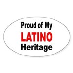Proud Latino Heritage Oval Sticker