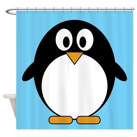 cute penguin drawing Shower Curtain by MarshEnterprises