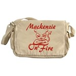 Mackenzie On Fire Messenger Bag