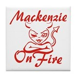 Mackenzie On Fire Tile Coaster