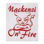 Mackenzie On Fire Throw Blanket