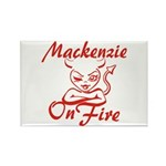 Mackenzie On Fire Rectangle Magnet