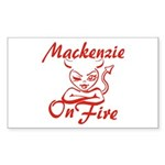 Mackenzie On Fire Sticker (Rectangle)