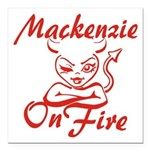 Mackenzie On Fire Square Car Magnet 3