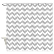 chevron pattern gray Shower Curtain