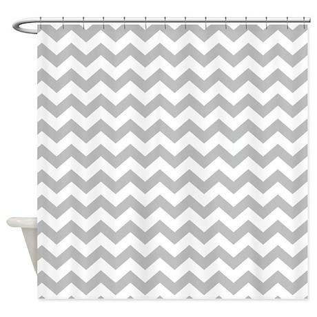 Chevron Pattern Gray Shower Curtain By MarshEnterprises