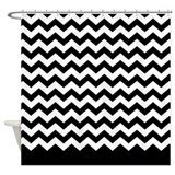 chevron pattern black Shower Curtain