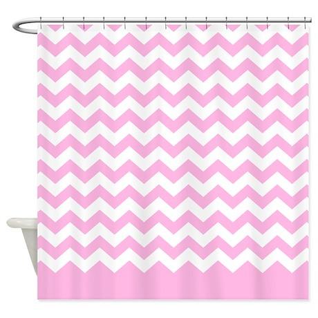 chevron pattern pink shower curtain by marshenterprises