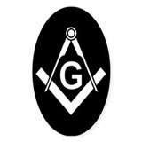 Masonic: Square &amp; Compass Oval Decal