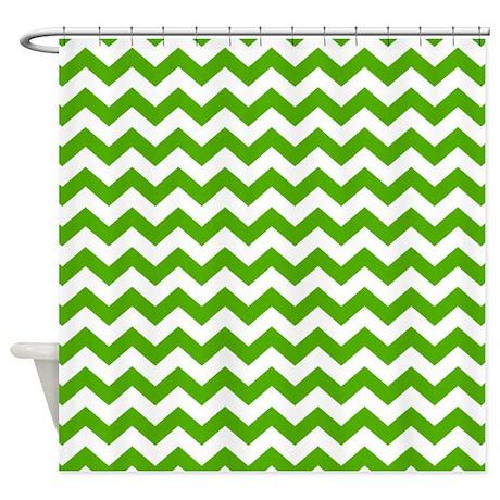 Chevron pattern green shower curtain by marshenterprises - Green curtain patterns ...