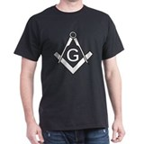 Masonic: Square & Compass Black T-Shirt