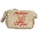Madison On Fire Messenger Bag