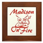 Madison On Fire Framed Tile