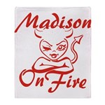 Madison On Fire Throw Blanket