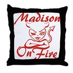 Madison On Fire Throw Pillow