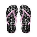 damask add name Flip Flops