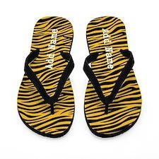 zebra stripes gold Flip Flops