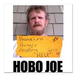 Hobo Joe Square Car Magnet 3