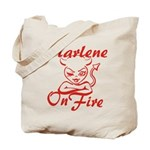 Marlene On Fire Tote Bag