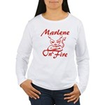 Marlene On Fire Women's Long Sleeve T-Shirt