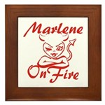 Marlene On Fire Framed Tile