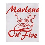 Marlene On Fire Throw Blanket