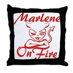 Marlene On Fire Throw Pillow