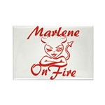 Marlene On Fire Rectangle Magnet