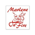 Marlene On Fire Square Sticker 3
