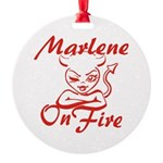 Marlene On Fire Round Ornament