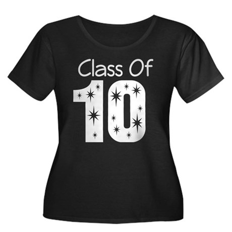 Class of 2010 Women's Plus Size Scoop Neck Dark T-