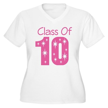 Class of 2010 Women's Plus Size V-Neck T-Shirt