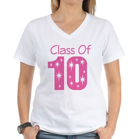 Class of 2010 Women's V-Neck T-Shirt