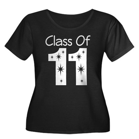 Class of 2011 Women's Plus Size Scoop Neck Dark T-