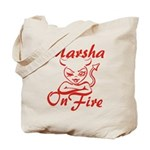 Marsha On Fire Tote Bag