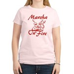 Marsha On Fire Women's Light T-Shirt