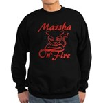 Marsha On Fire Sweatshirt (dark)