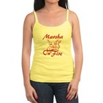 Marsha On Fire Jr. Spaghetti Tank