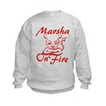 Marsha On Fire Kids Sweatshirt