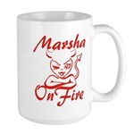 Marsha On Fire Large Mug