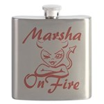 Marsha On Fire Flask