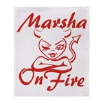 Marsha On Fire Throw Blanket