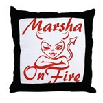 Marsha On Fire Throw Pillow