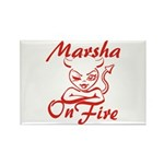 Marsha On Fire Rectangle Magnet